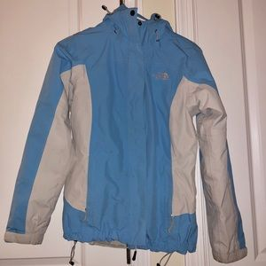Baby blue, double jacket winter North Face